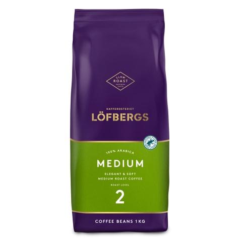 Kohvioad keskmine röst Lofbergs 1kg