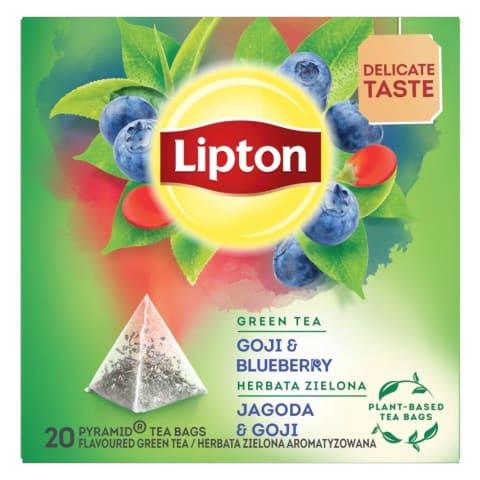 Zaļā tēja Lipton ar mellenēm,godži 28g