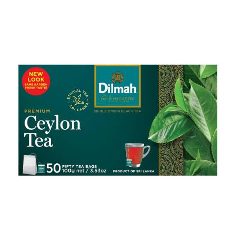 Melnā tēja Dilmah premium 50x2g