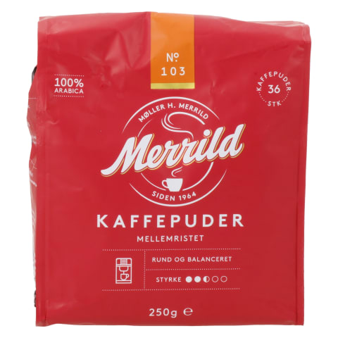 Kohvipadjad keskmine röst Merrild 36tk