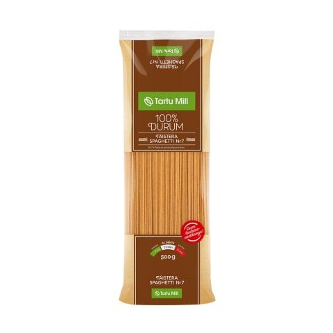 Täisterapasta Spaghetti nr.7 Tartu Mill 500g