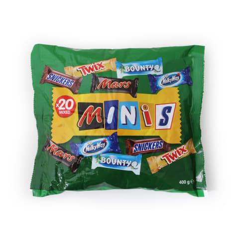 Šokoladukų rinkinys MIXED MINIS, 400 g