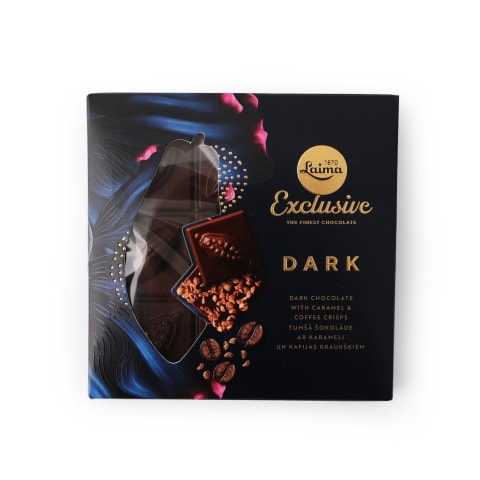 Tumšā šokolāde Laima ar karameli, kafiju 93g