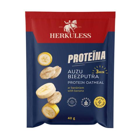 Auzu biezputra Herkuless proteīna ar ban. 40g