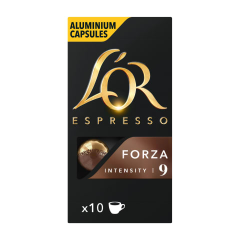 Kavos kapsulės L'OR FORZA, 10 vnt., 52g