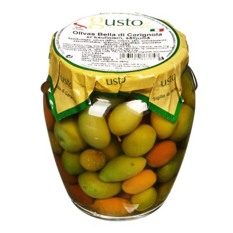 Oliivid kividega soolvees Bella di Ceri. 550g
