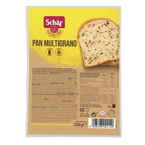 Duona be glitimo PAN MULTIGRANO, 250 g