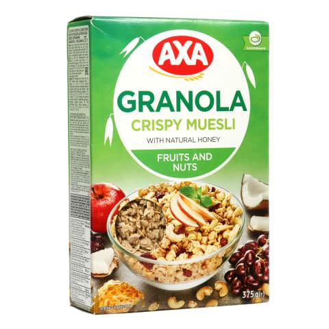 Dribsniai su vaisiais ir riešutais AXA, 375 g