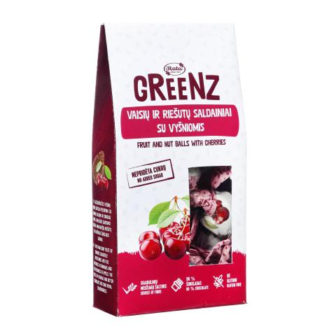 Saldainiai su vyšniomis GREENZ, 140g
