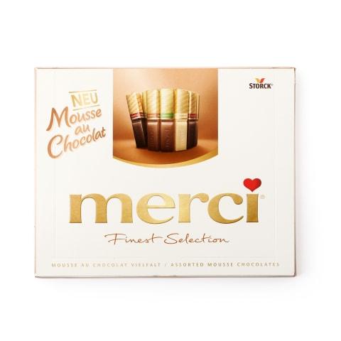 Šokolādes konfektes Merci mousse izlase 210g