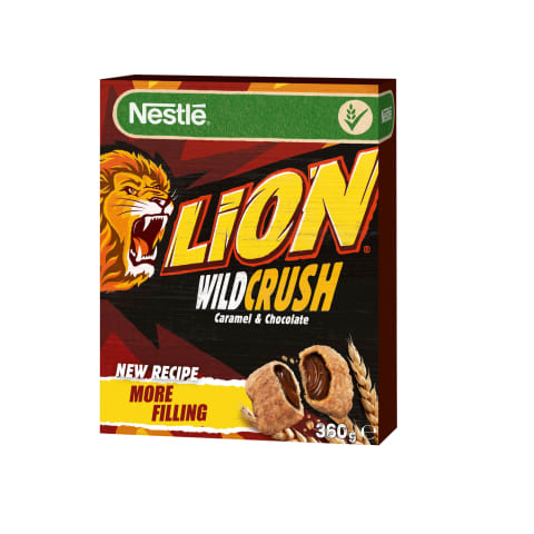 Brokastu pārslas Nestle Lion Wildcrush 360g