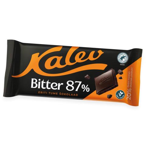 Tume šokolaad 87% Kalev Bitter 100g
