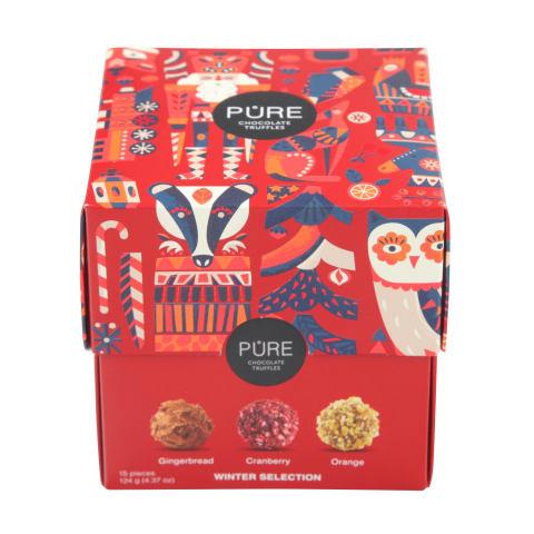 Šok. trifeļu kolekcija Pure Asorti 15 124g