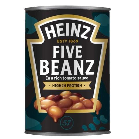 Pupiņu maisījums Heinz tomātu mērcē 415g