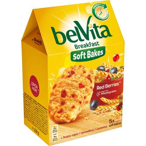 Küpsised marja Belvita Soft Bakes 250g
