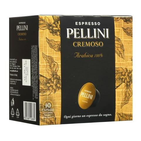 Kavos kapsulės PELLINI CREMOSO, 10 vnt., 75 g