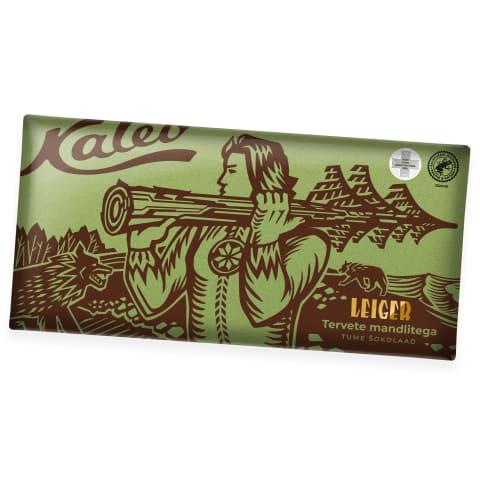 Tume šokolaad mandlitega Kalev Leiger 300g