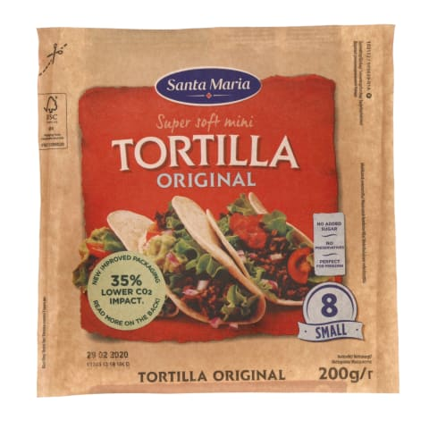 Mini tortilijos SANTA MARIA ORIGINAL, 200g