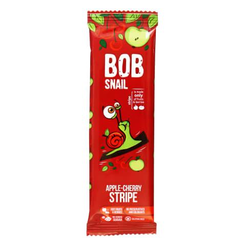 Obuolių ir vyšnių juostelės BOB SNAIL, 14g