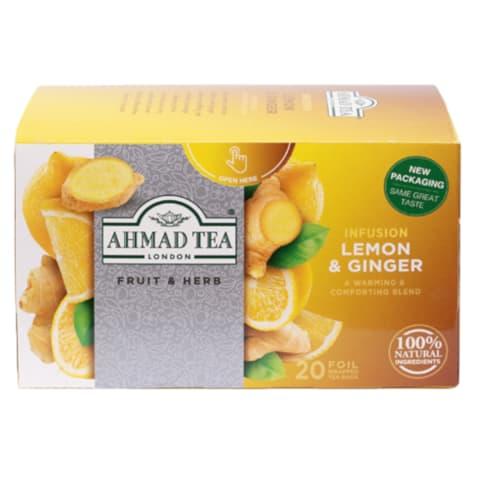 Zāļu tēja Ahmad Tea ingvers ar citronu 40g