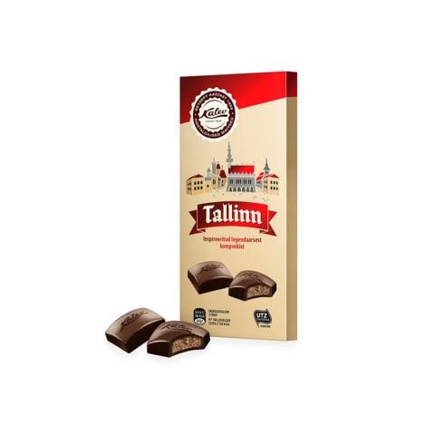 Tume šokolaad täidisega Kalev Tallinn 100g