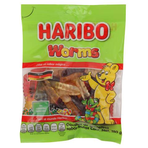 Želejkonfektes Haribo Worms 150g