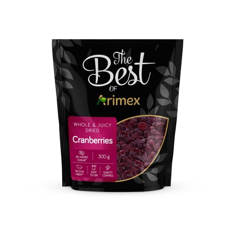 Dzērvenes žāvētas The Best of Arimex 300gr