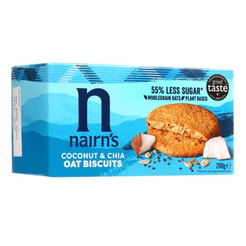 Sausainiai avižiniai su kokosu,chia,200g