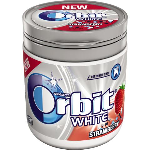 Košļājamā gumija Orbit White ar zemeņu g. 84g