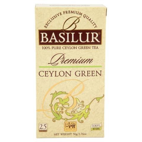 Zaļā tēja Basilur ceilonas 25x2g