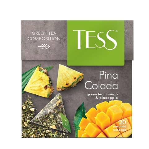 Tēja Tess zaļā Pina Colada Pyramids 20*1,8g