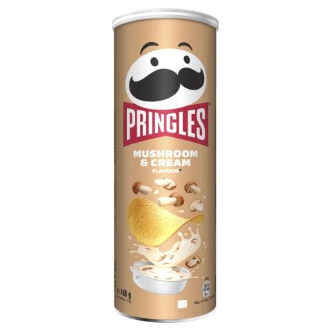 Čipsi Pringles ar sēņu un krējuma garšu 165g