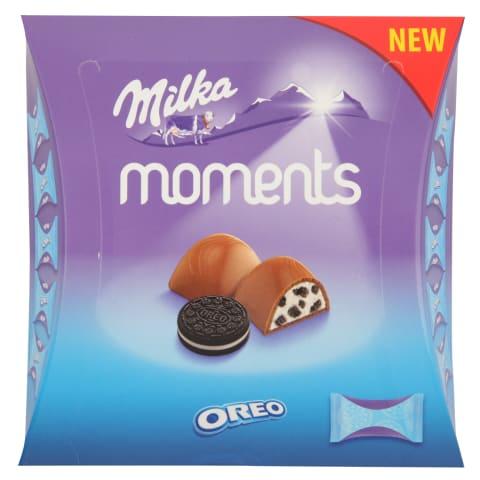 Šokolādes konfektes Milka Moments oreo 92g