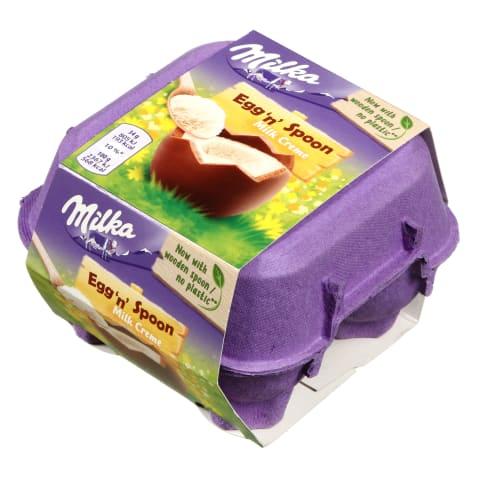 Šok.kiaušiniai MILKA EGGS AND SPOON, 136 g