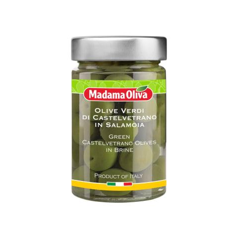 Zaļās olīvas Madamaoliva Castelvetrano 300g