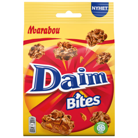 Saldainiai MARABOU DAIM BITES, 145 g