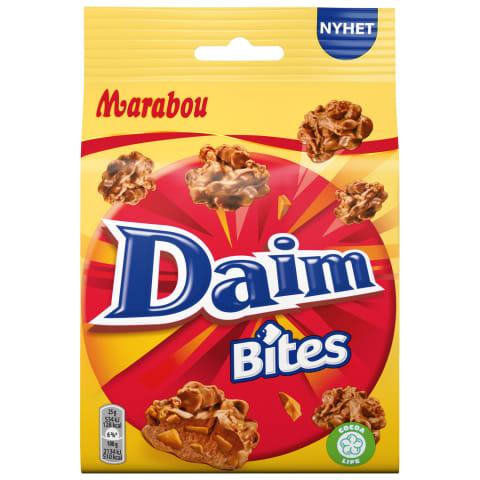 Šokolādes gabaliņi Marabou Daim Bites 145g