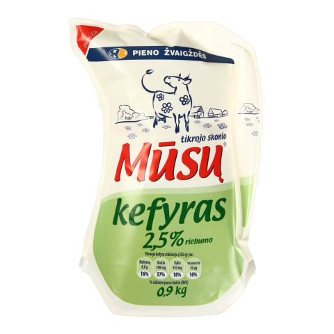 Kefyras DVARO, 2,5 % rieb., 0,9 kg (ąsotis)