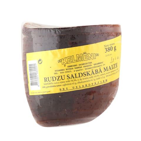 Rudzu saldskābmaize Ķelmēni 1/2 sagr. 380g