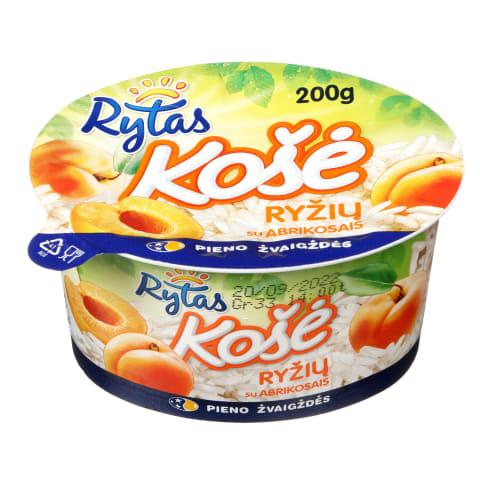 Ryžių košė su abrikosais RYTAS, 6%, 200g