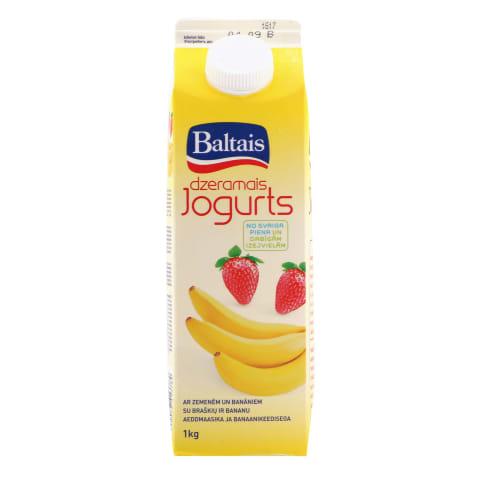 Dzeramais jogurts zemeņu un banānu 1kg