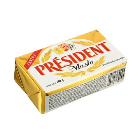 Sviestas PRESIDENT EXTRA, 82 % rieb., 200 g