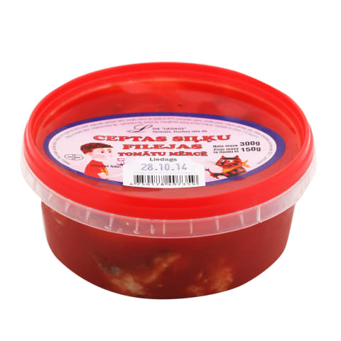 Siļķes fileja asā tomātu mērcē cepta 300g