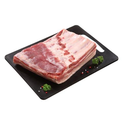 Atšaldyta kiaulienos šoninė su kaulu, 1kg