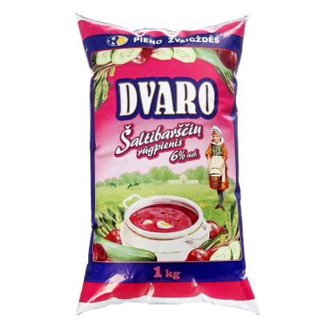 Šaltibarščių rūgpienis DVARO, 6 % rieb., 1 kg