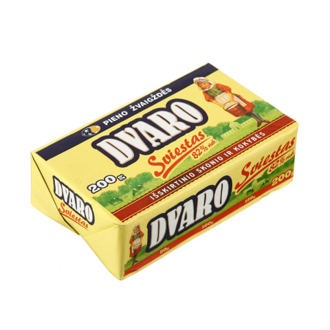 Saldž. grietinėlės DVARO sviestas, 82%, 200g