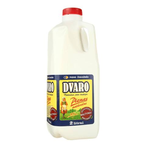 Natūralus DVARO pienas, 2 l (plastik. but.)