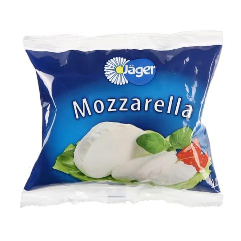 Šviežias sūris JAGER MOZZARELLA, 45%, 125g