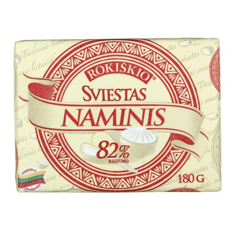 Rokiškio NAMINIS sviestas, 82% rieb., 180g