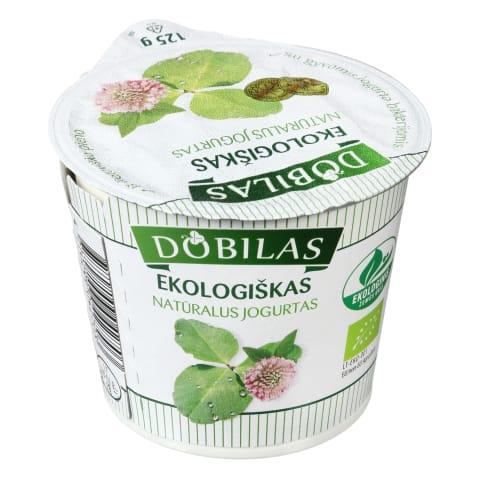 Ekologiškas jogurtas DOBILAS, 2,3-4,6%, 125g